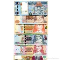 Billetes extranjeros: GUATEMALA 5 10 20 50 100 200 QUETZALES 2009-2015 UNC FULL SET 6 PCS BILLETES. Lote 166358350