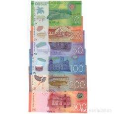 Billetes extranjeros: NICARAGUA 10 20 50 100 200 500 CORDOBAS 2014(2015) P-208-213 UNC SET OF 6 PCS BILLETES. Lote 166358578