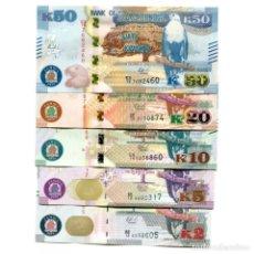 Billetes extranjeros: ZAMBIA 2 5 10 20 50 KWACHA 2018 P-NEW UNC SET 0F 5 PCS BILLETES. Lote 166359018