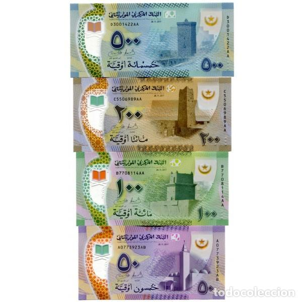 MAURITANIA 50 100 200 500 OUGUIYA 2017(2018 P-NEW UNC SET OF 4 PCS BILLETES (Numismática - Notafilia - Billetes Extranjeros)