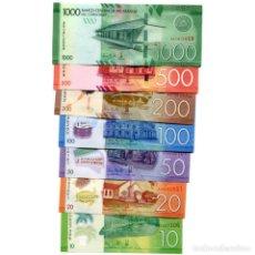Billetes extranjeros: NICARAGUA 10-1000 CORDOBAS 2014(2015-17) UNC FULL SET OF 7 BILLETES. Lote 166374462