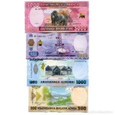Billetes extranjeros: RWANDA 500 1000 2000 5000 FRANCS 2014-2019 P-NEW-40,41 UNC FULL SET OF 4 BILLETES. Lote 166559138