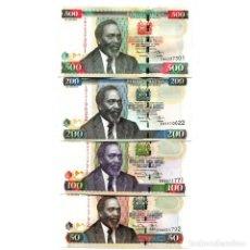 Billetes extranjeros: KENYA 50 100 200 500 SHILLINGS 2010 P-47-50 UNC SET OF 4 BILLETES. Lote 166559718