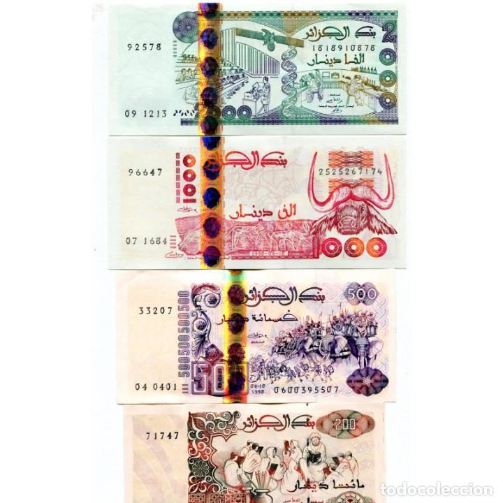 ALGERIA 200 500 1000 2000 DINARS 1992-2011 P-138-144 UNC SET OF 4 BILLETES (Numismática - Notafilia - Billetes Extranjeros)