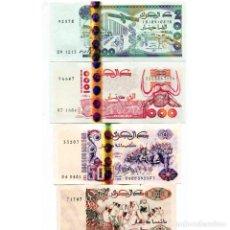 Billetes extranjeros: ALGERIA 200 500 1000 2000 DINARS 1992-2011 P-138-144 UNC SET OF 4 BILLETES. Lote 166559962