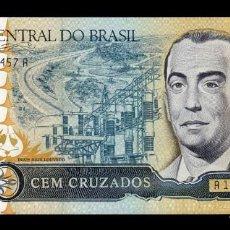 Billetes extranjeros: BRASIL BRAZIL 100 CRUZADOS 1986-1988 PICK 211B FIRMA 24 SC UNC. Lote 221951897