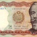 Billetes extranjeros: 5000 SOLES DE ORO, 21 DE JUNIO DE 1985, PERU, SIN CIRCULAR UNC. Lote 166600546