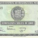Billetes extranjeros: 50 SOLES DE ORO, 15 DE DICIEMBRE DE 1977, PERU, SIN CIRCULAR UNC. Lote 166602677