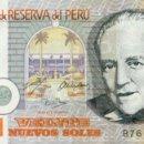 Billetes extranjeros: 20 NUEVOS SOLES, 21 DE OCTUBRE 2004, PERU, SIN CIRCULAR UNC. Lote 166603754