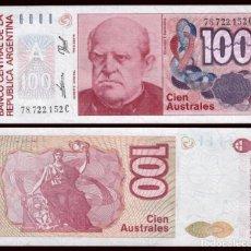 Billetes extranjeros: ARGENTINA 100 AUSTRALES 1985 PIK 327 S/C. Lote 194627932
