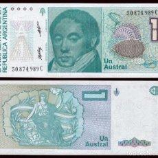 Billetes extranjeros: ARGENTINA 1 AUSTRAL 1985/1989 PIK 323B S/C. Lote 194627986