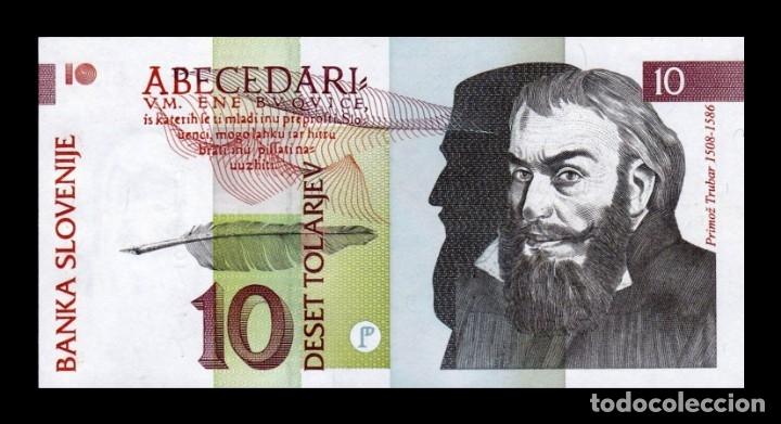 ESLOVENIA SLOVENIA 10 TOLARJEV 1992 PICK 11 SC UNC (Numismática - Notafilia - Billetes Extranjeros)