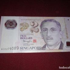 Billetes extranjeros: SINGAPUR. 2 DOLLARS. Lote 166721026