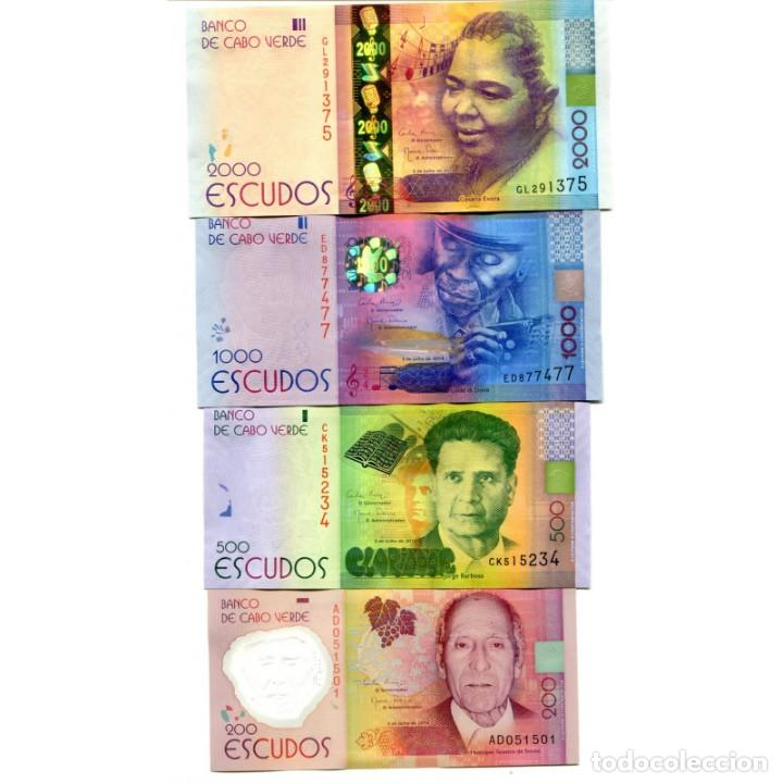 CAPE VERDE 200 500 1000 2000 ESCUDOS 2014(2015) P-NEW UNC SET OF 4 BILLETES (Numismática - Notafilia - Billetes Extranjeros)