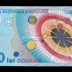 Billetes extranjeros - Rumania Romania 2000 Lei 1999 Pick 111 Polimero SC UNC - 167111396