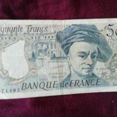 Billets internationaux: FRANCIA. 50 FRANCOS 1987. Lote 167373684