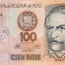 Billetes extranjeros: 100 INTIS, 26 DE JUNIO DE 1987, PERU, SIN CIRCULAR UNC. Lote 167499397
