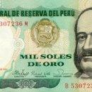 Billetes extranjeros: 1000 SOLES DE ORO, 5 DE NOVIEMBRE DE 1981, PERU, SIN CIRCULAR UNC. Lote 167499602