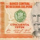 Billetes extranjeros: 50 INTIS 6 DE MARZO DE 1986, PERU, SIN CIRCULAR UNC. Lote 167499672