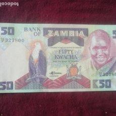 Billetes extranjeros: ZAMBIA 50 KWACHA 1986 SC. Lote 195437092