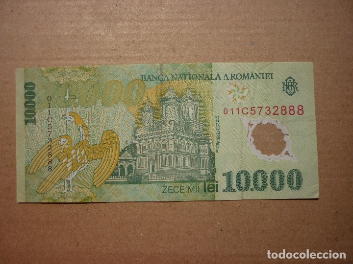 Billetes extranjeros: RUMANIA - 10000 LEI 2000 SC- - Foto 2 - 167689536