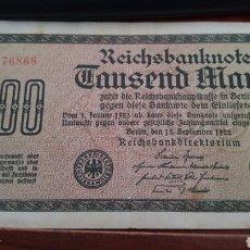 Billetes extranjeros: ALEMANIA 1000 MARCOS 1922. Lote 167716234