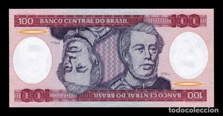 Billetes extranjeros: Brasil Lote 10 Billetes 100 Cruzeiros 1984 Pick 198b SC UNC - Foto 2 - 167716240