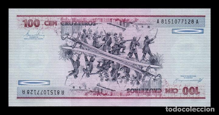 Billetes extranjeros: Brasil Lote 10 Billetes 100 Cruzeiros 1984 Pick 198b SC UNC - Foto 3 - 167716240