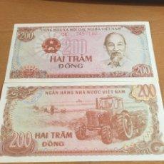 Billetes extranjeros: VIETNAM DEL SUR 200 DONG 1987 SIN CIRCULAR. Lote 167812177
