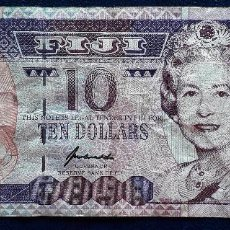 Billetes extranjeros: FIJI BILLETE DE 10 DOLLARS DE 1996 P-98B USADO. Lote 167918744