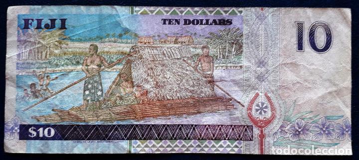Billetes extranjeros: FIJI BILLETE DE 10 DOLLARS DE 1996 P-98b USADO - Foto 2 - 167918744