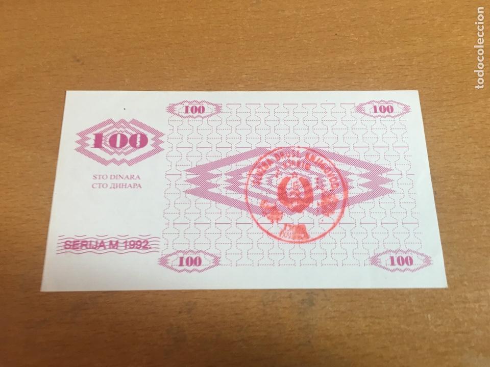 BOSNIA HERZEGOVINA 100 DINARA 1992 SIN CIRCULAR (Numismática - Notafilia - Billetes Internacionales)