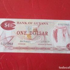 Billetes extranjeros: GUYANA. BILLETE DE 1 DOLAR. 1966. Lote 167958656