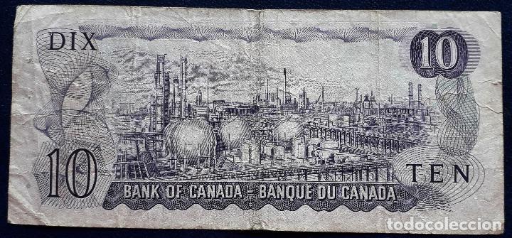 Billetes extranjeros: CANADA BILLETE DE 10 DOLLARS DE 1971 P-88c USADO - Foto 2 - 167964340