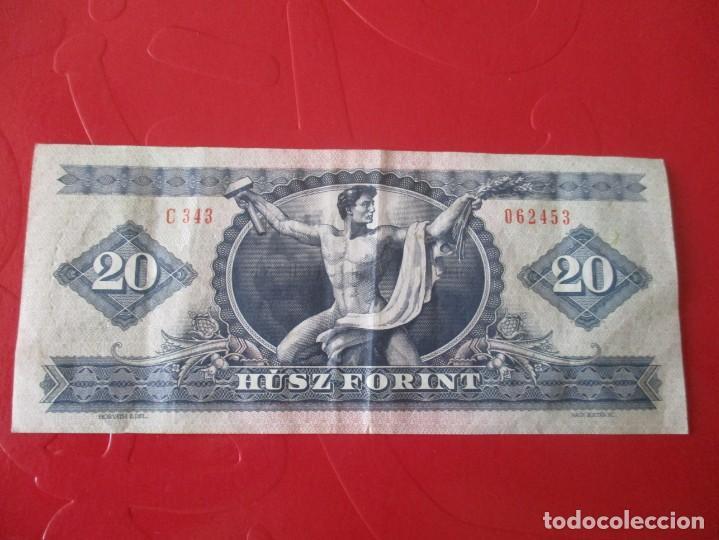 Billetes extranjeros: Hungria. billete de 20 florines. 1980 - Foto 2 - 167964824