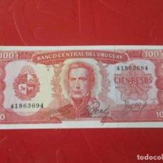 Billetes extranjeros: URUGUAY. BILLETE DE 100 PESOS 1967. Lote 168113040