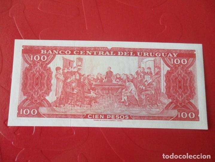 Billetes extranjeros: Uruguay. billete de 100 pesos 1967 - Foto 2 - 168113040