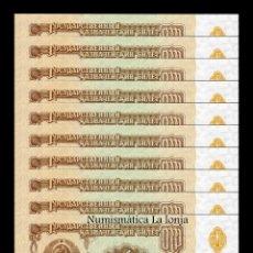 Billetes extranjeros: RUSIA LOTE 10 BILLETES 1 RUBLO 1961 PICK 222 SC UNC. Lote 206971282