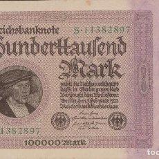 Billetes extranjeros: BILLETES - GERMANY-ALEMANIA - 100.000 MARK 1923 - PICK-83B (EBC+). Lote 168339924
