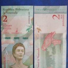Billetes extranjeros: 2 BOLIVARES NUEVO SIN CIRCULAR AÑO 2018 SOBERANO. Lote 217549716