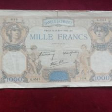 International Banknotes - Francia. 1000 francos de 1940 - 168499932
