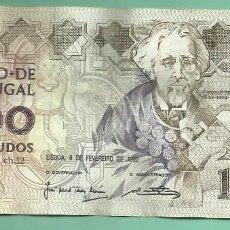 Billetes extranjeros: PORTUGAL BILLETE DE 1000 ESCUDOS 1989. TEOFILO BRAGA. Lote 168507596