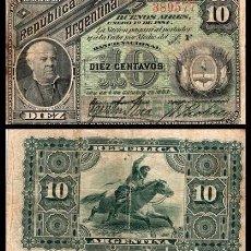 Billetes extranjeros: ARGENTINA 10 CENTAVOS 1883 PIK 6 BC. Lote 168560796