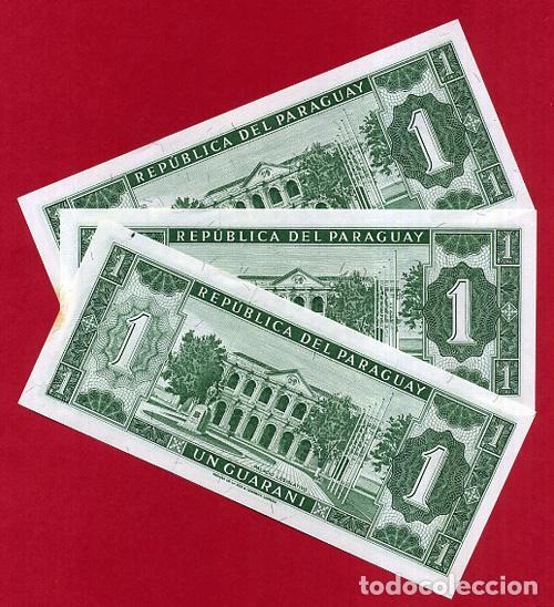 Billetes extranjeros: 1 BILLETE URUGUAY , 1 GUARANI , SIN CIRCULAR PLANCHA , ORIGINAL - Foto 2 - 168564333
