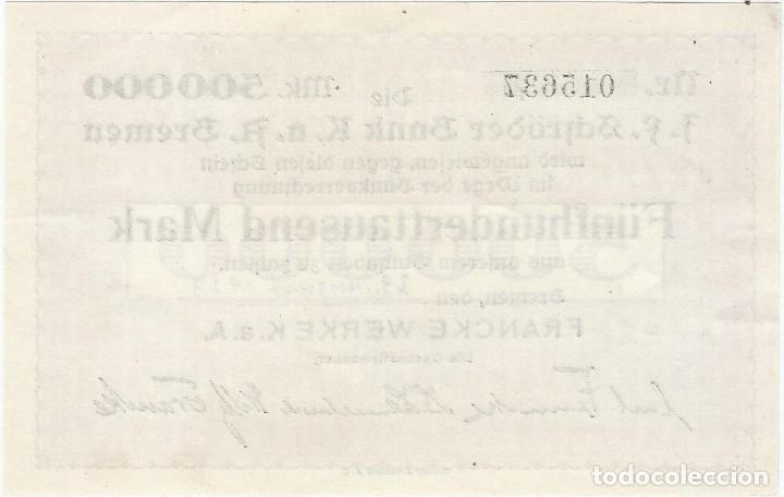 Billetes extranjeros: Alemania (NOTGELD) - Germany 500.000 mark 29-8-1923 Bremen UNC RARO - Foto 2 - 168749500
