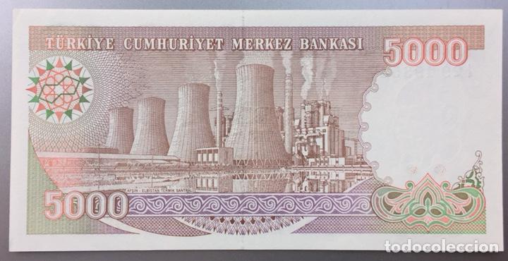 Billetes extranjeros: Turquía. 5000 liras - Foto 2 - 168750469