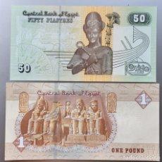 Billetes extranjeros: LOTE EGIPTO. 1 LIBRA Y 50 PIASTRAS. Lote 194368553