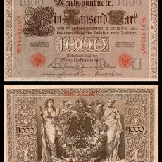 Billetes extranjeros: ALEMANIA 1000 MARCOS 1910 PIK 44 (SELLO ROJO) EBC. Lote 168919136