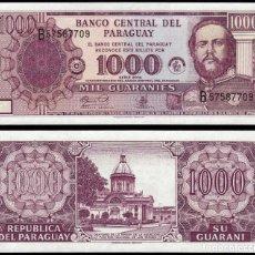 Billetes extranjeros: PARAGUAY 1000 GUARANIES 2002 PIK 221 S/C. Lote 168937565