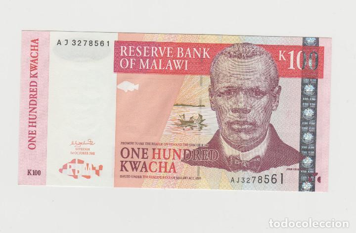 MALAWI- 100 KWACHA 1989-SC (Numismática - Notafilia - Billetes Extranjeros)